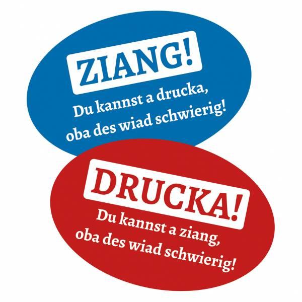 """Tür-Aufkleber-Set """"Ziang & Drucka"""""""