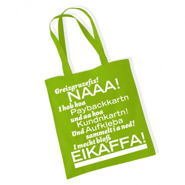 Tasche 'Eikaffa!' kiwi