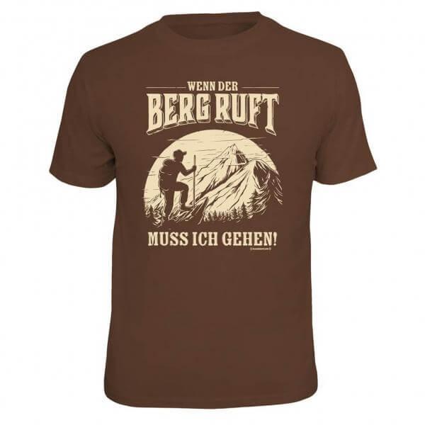 """Herren-Shirt """"Wenn der Berg ruft ..."""""""
