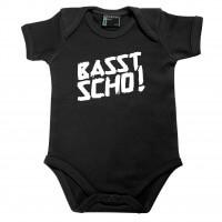 Baby Body 'Basst scho!' schwarz - Größe: 74 (12 - 18 Monate)