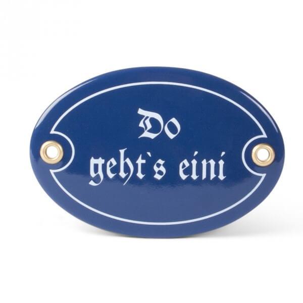 Emaille-Schild 'Do gehts eini'