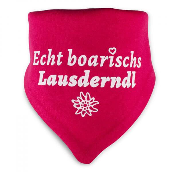 """Baby-Halstuch """"Echt boarischs Lausderndl"""" sorbet"""