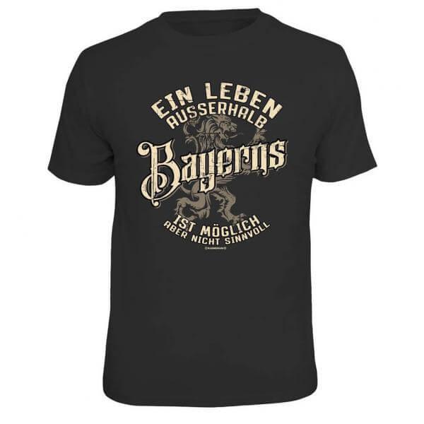 """Herren-Shirt """"Leben außerhalb Bayerns ..."""""""