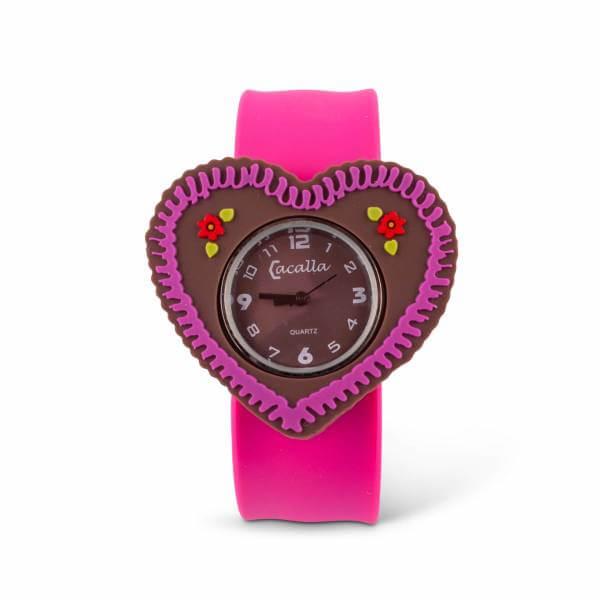 "Kinder-Armbanduhr ""Lebkuchenherz"" pink"