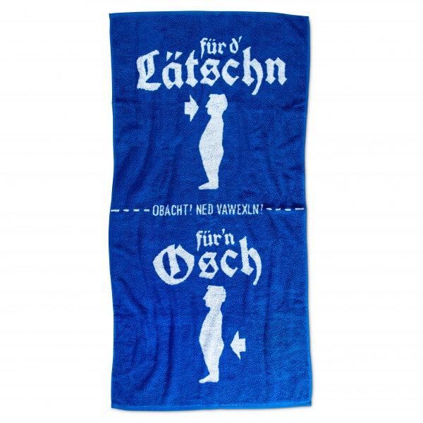 Duschtuch 'Lätschn & Osch'