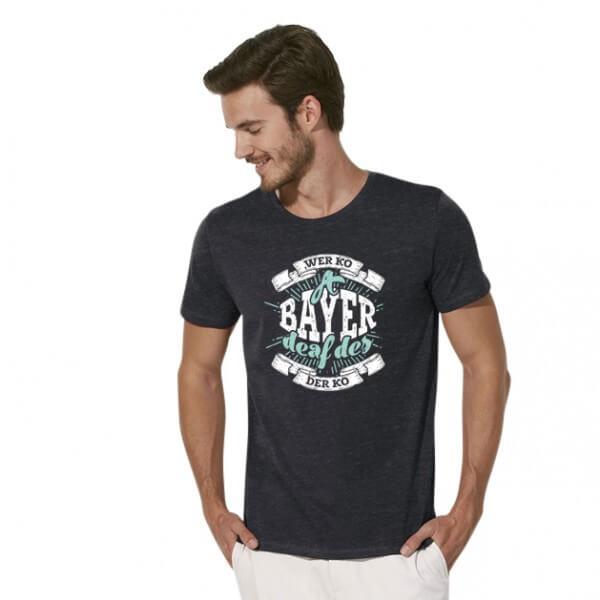 Herren-Shirt 'A Bayer deaf des' - Größe XXXL