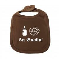 Babylätzchen 'An Guadn' braun